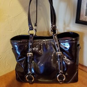 Authentic Coach patent leather purse.